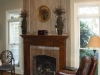 faux finished fireplace