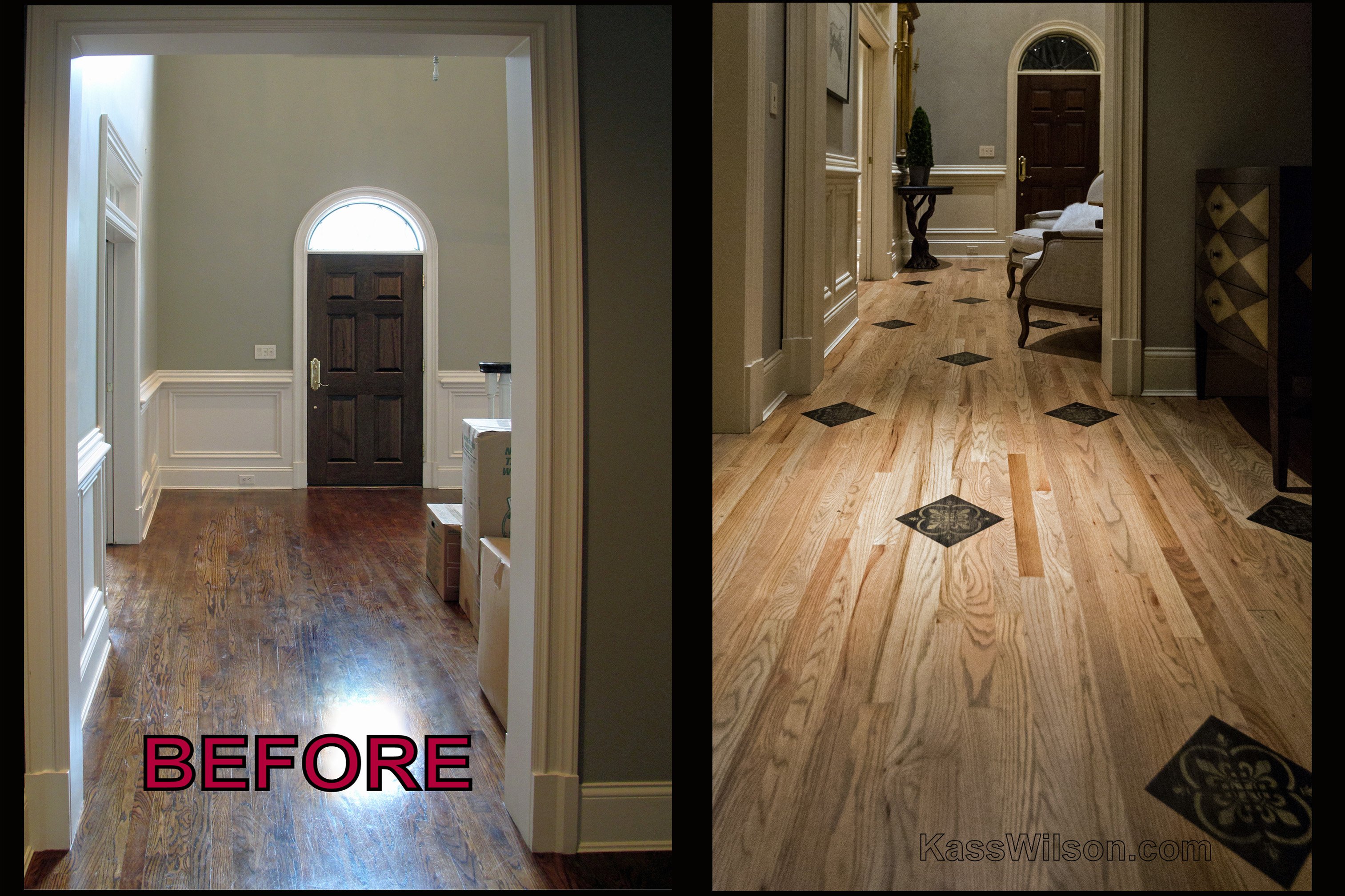 before and after Atlanta faux finishes