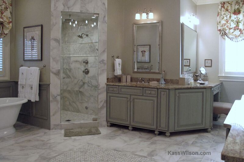 master bath after cabinet refinishing