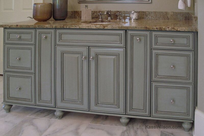 decorative finishes for bathroom cabinetry