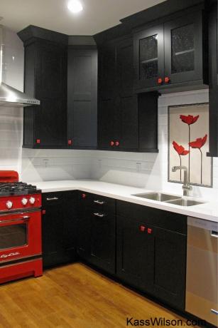 kitchen remodel painted backsplash