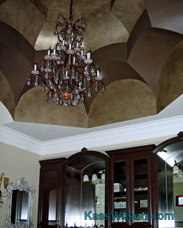painted ceiling faux finish