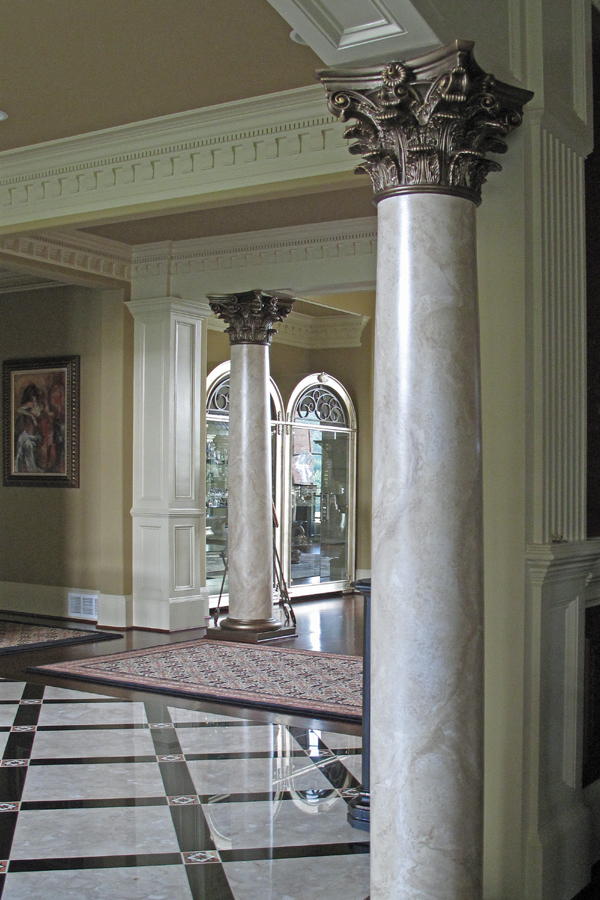 columns with faux marble
