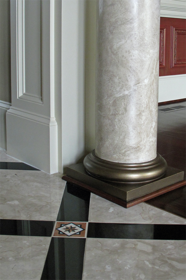 Mimic the marble floor