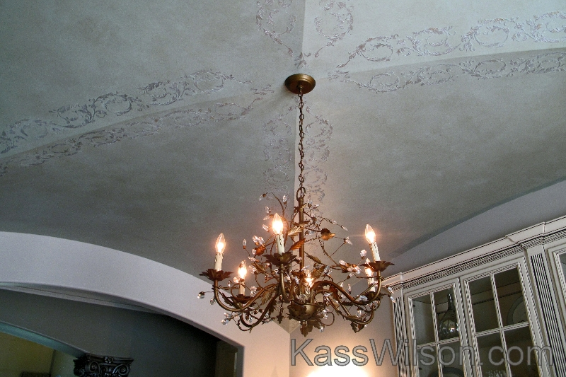 stencil-on-ceiling