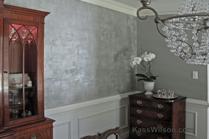 lustrous dining room wall