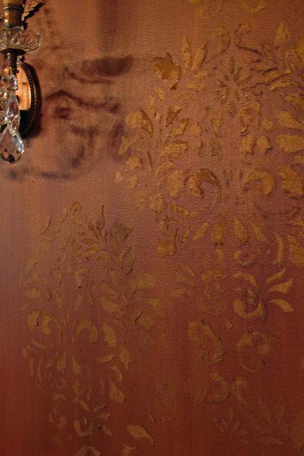 Close up of faux finish