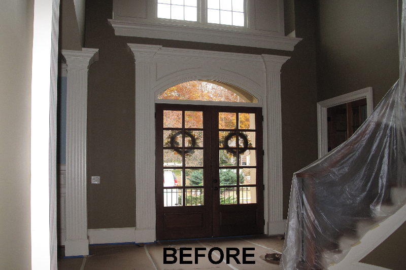 front door makeover- before