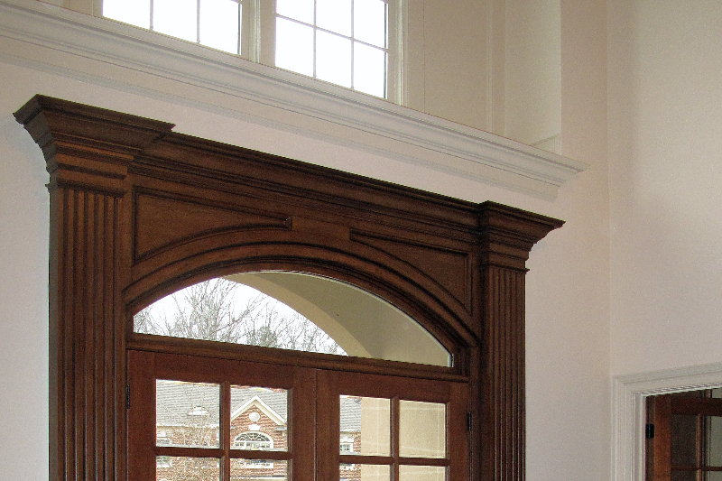 crown molding with decorative painting