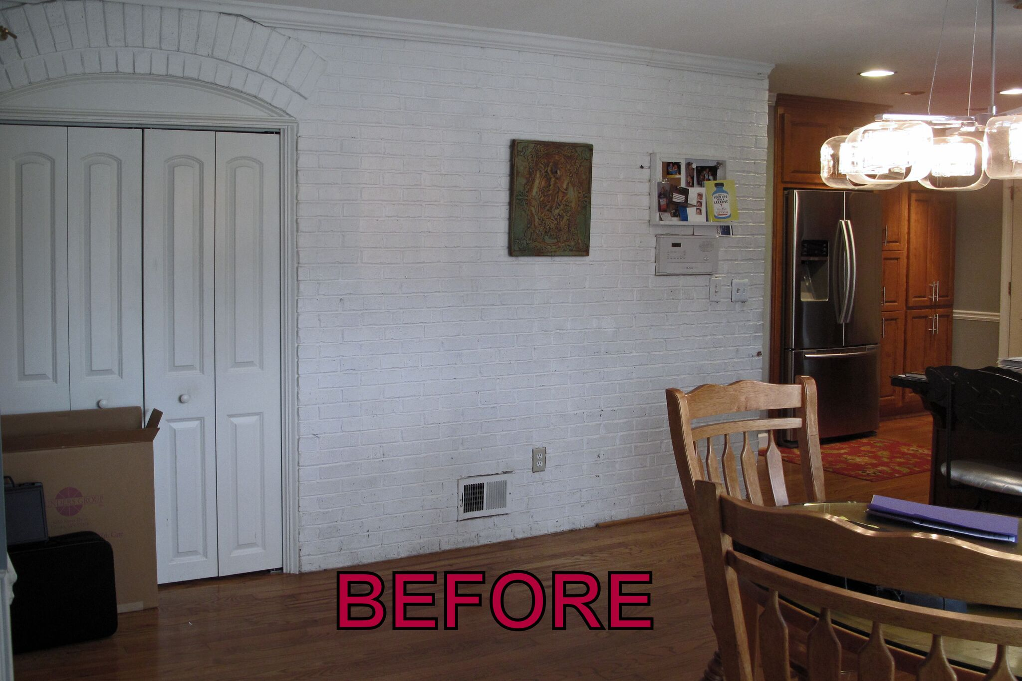before brick faux finish
