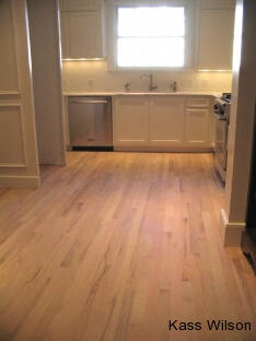 before kitchen floor finish