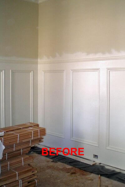 aged plaster decorative painting before