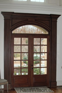 faux wood grain door