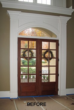 front door remodel before