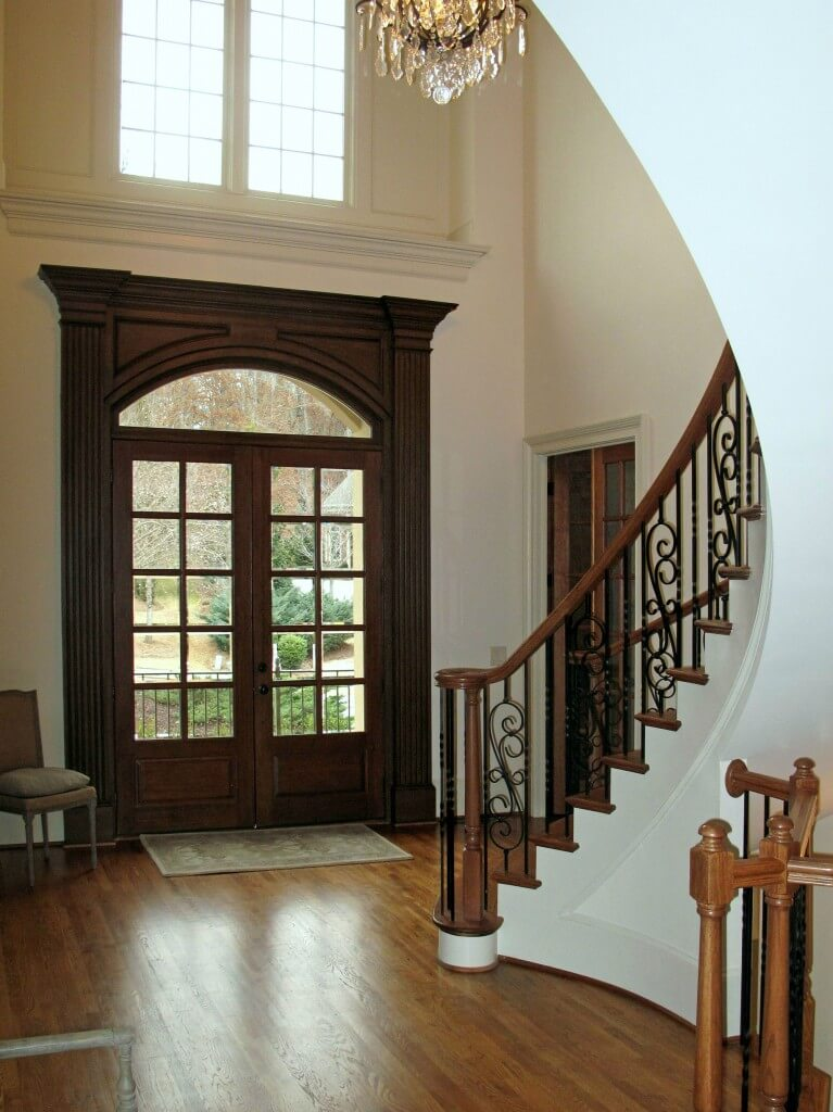 Story Foyer Definition : Worth repeating faux wood grain foyer makeover