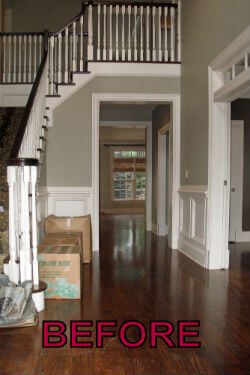 foyer before decorative painting