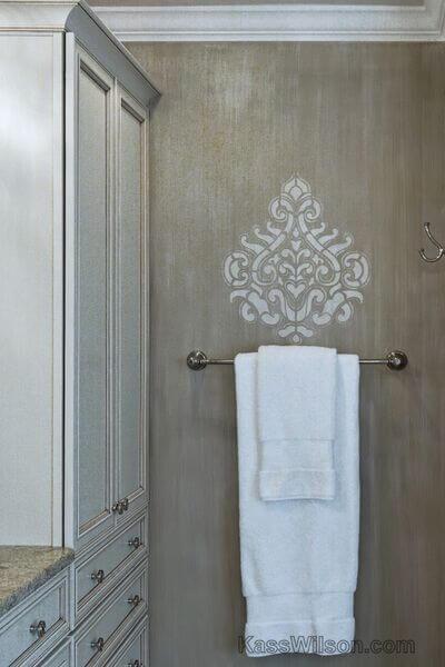 Luxury Defined Stencil Texture Transform A Master Bath