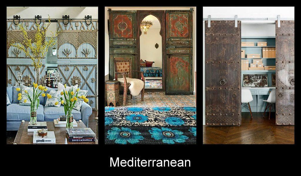 Mediterranean inspired sliding doors