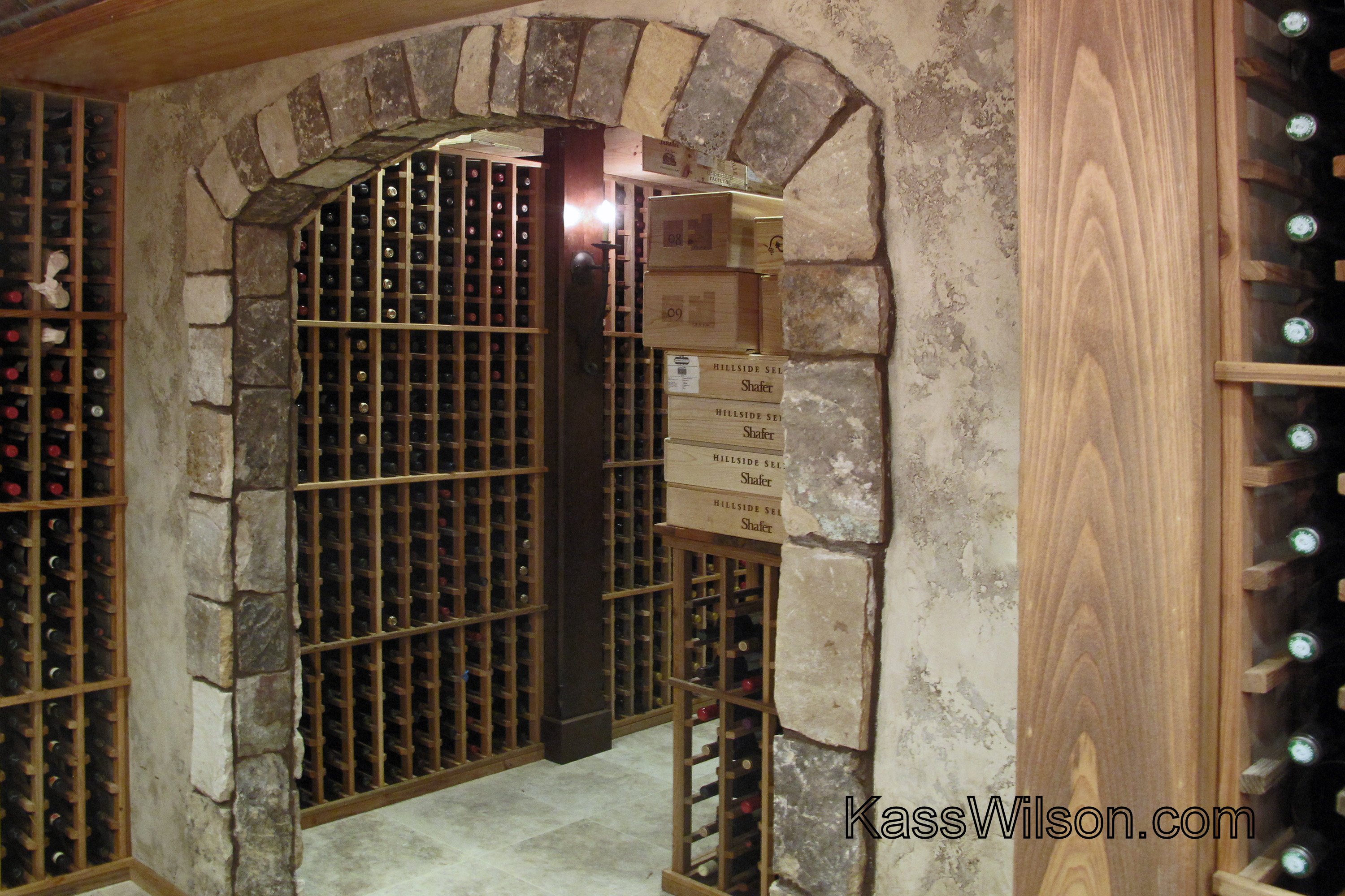 Wine cellar entry