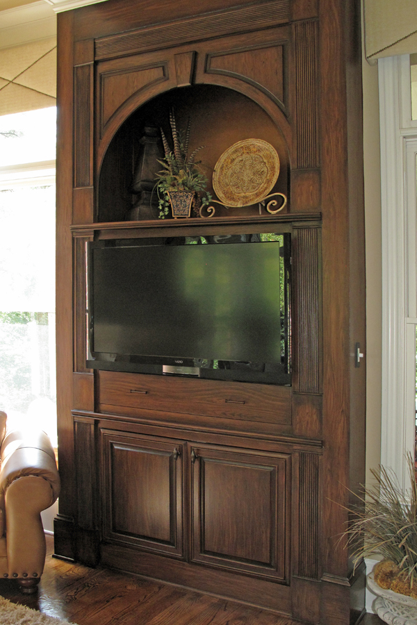 AFTER cabinet refinishing