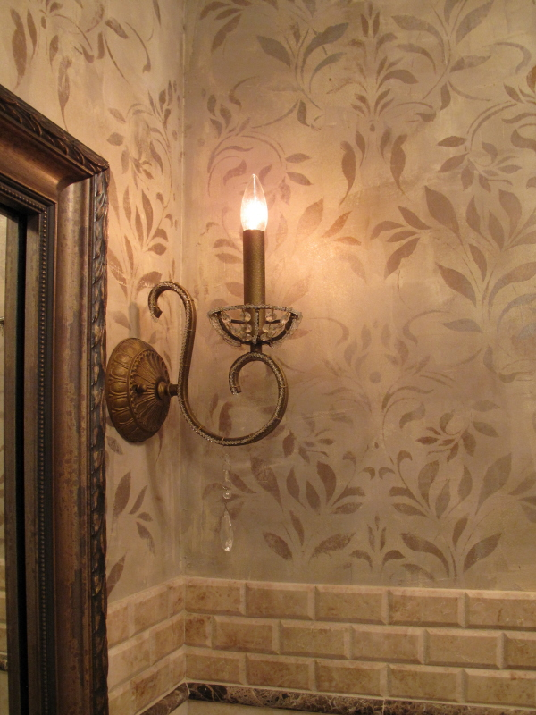 close up of design in faux finish