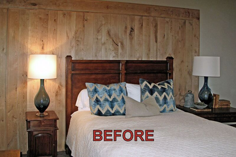 before guest room remodeling