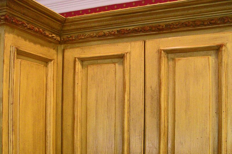 distressed cabinets