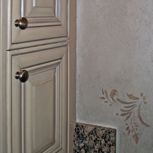 detail of cabinet refinishing