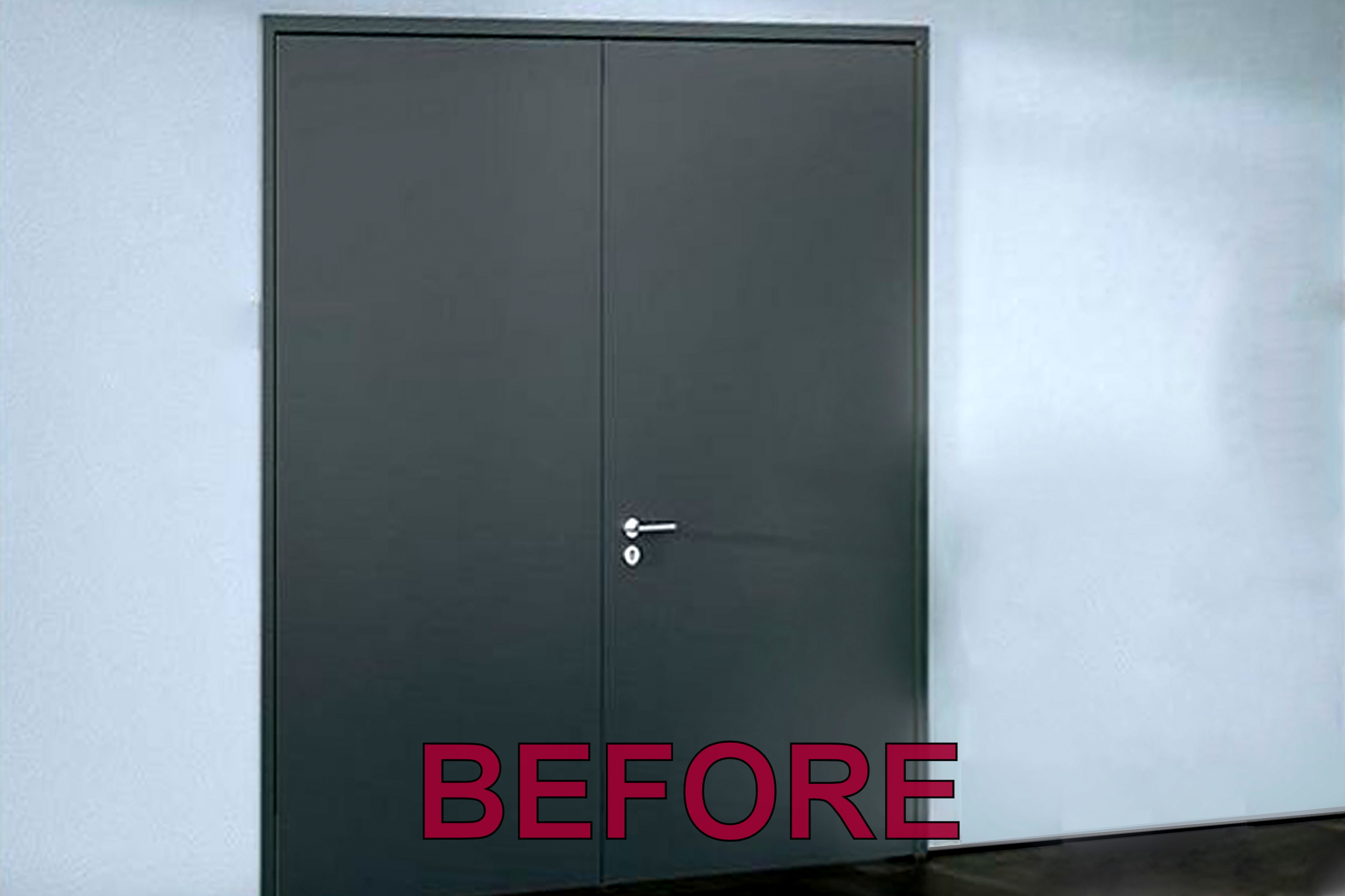 1 Before faux painted doors pswm