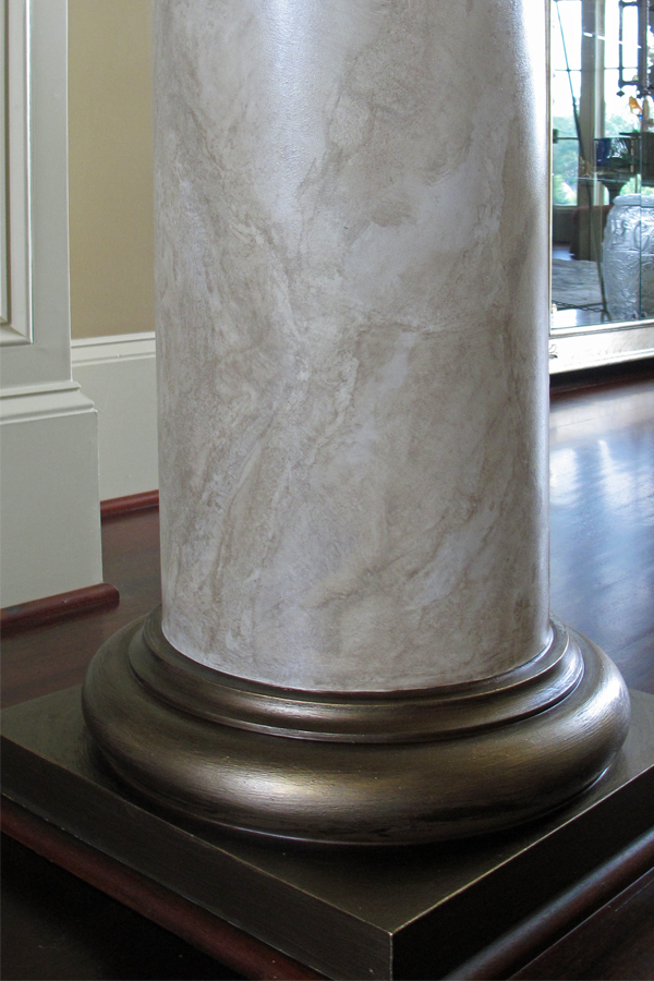 Close up of faux marble