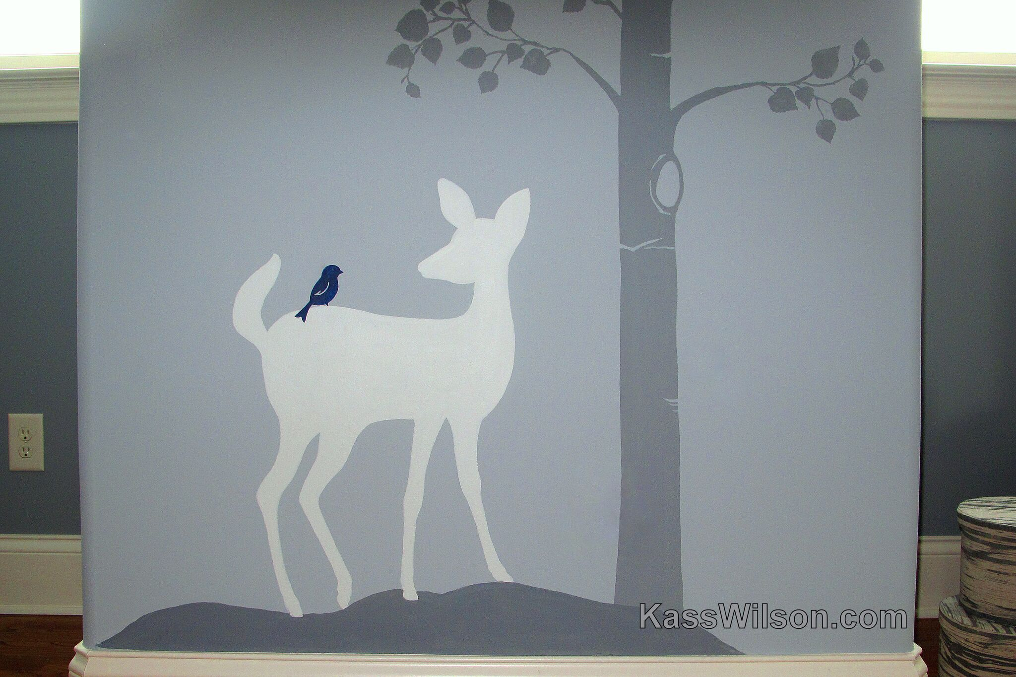 Nursery painted deer