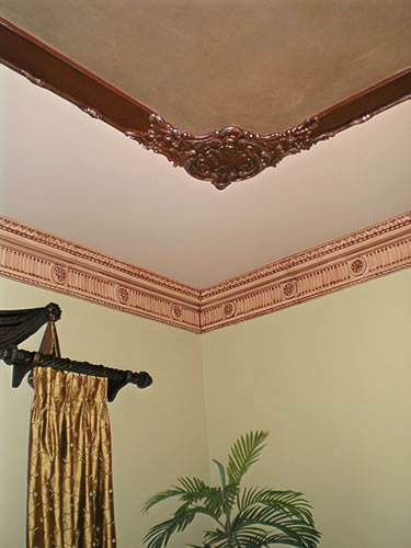 ceiling faux finish details