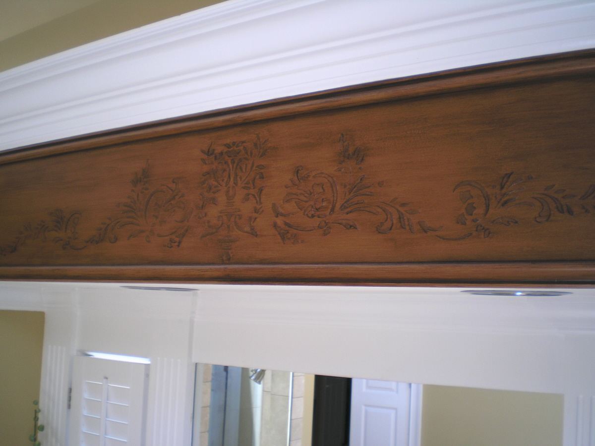 Faux finish on crown molding