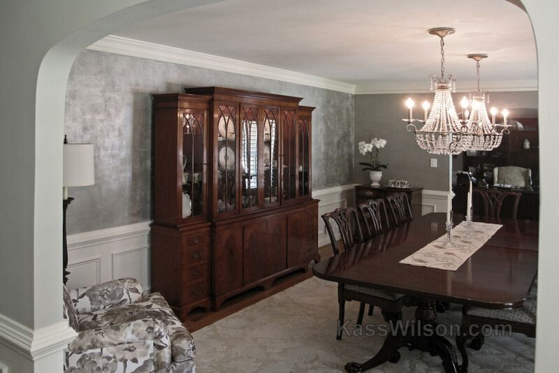 modern traditional faux finish