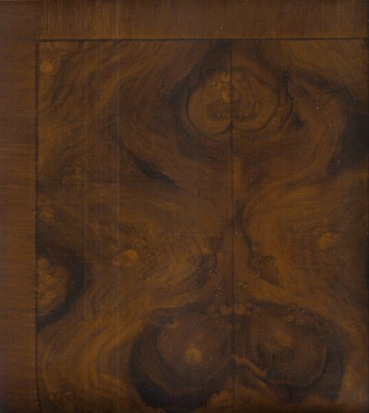 Close up burl faux finish