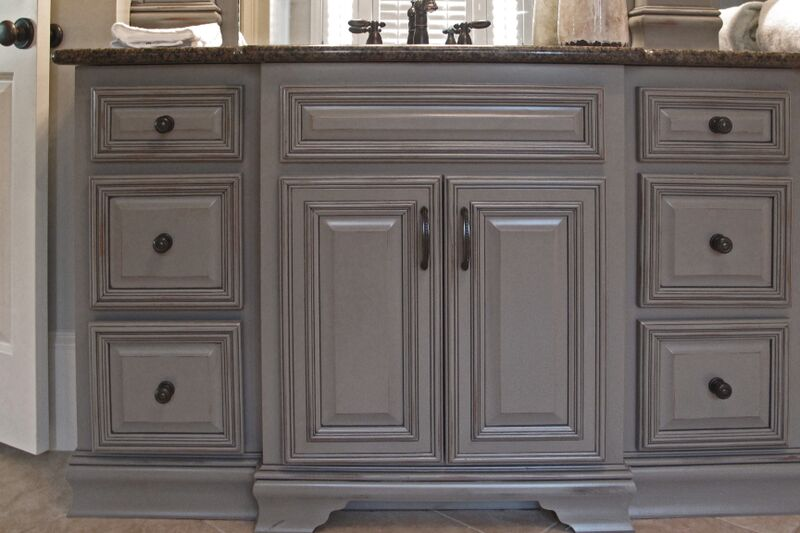 master bath cabinet refinishing 4