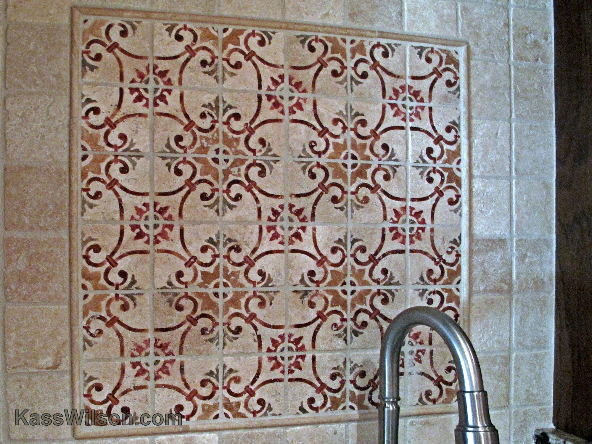 decorative painting- tile backsplash