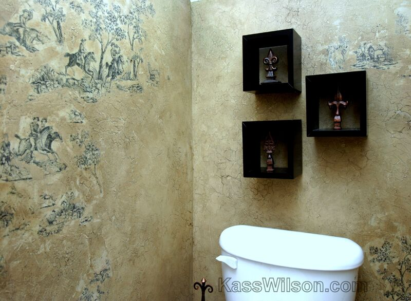 Powder room walls