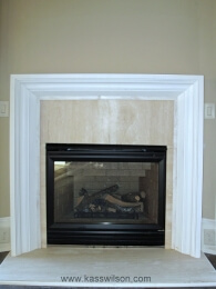 contemporary fireplace before