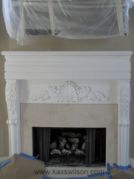 traditional fireplace before