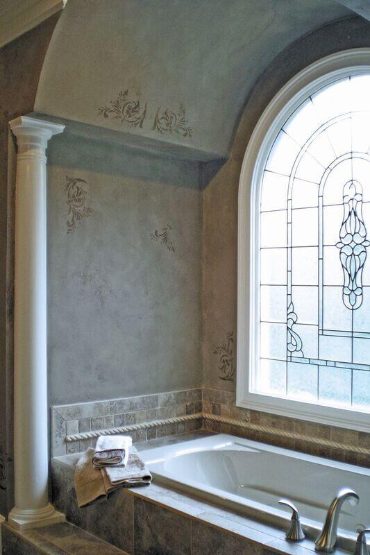 bathroom decorative finish