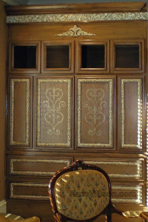decorative cabinet refinishing-after