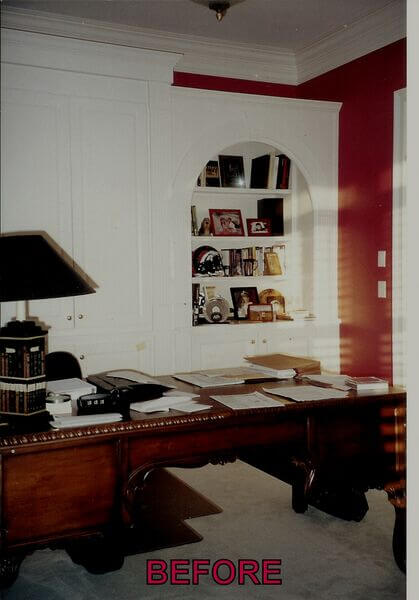 Before cabinetry refinishing