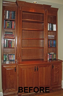 before remodeling bookcase