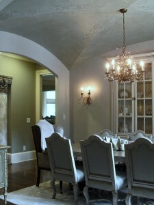 decorative painting dining room remodel