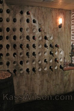 decorative painting makeover of wine cellar