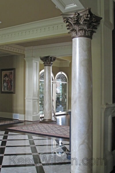 faux finish marble columns