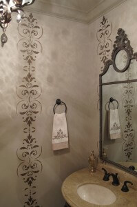 Sugar on Top: Decorative Painting Powder Room Makeover