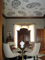 Hidden Agenda: Custom Stenciled Ceiling Finish