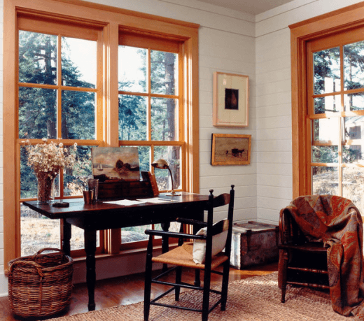 rustic interior design with natural finishes